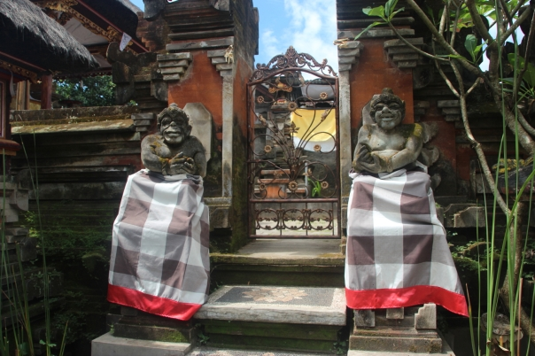 Temple entrance in a private house compound