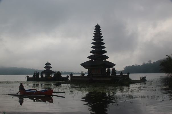 A floating Hindu temple
