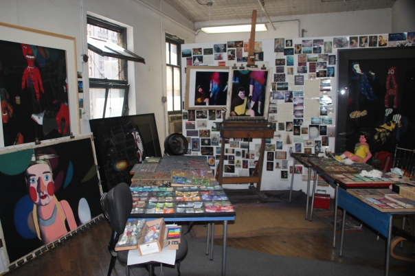 Barbara's Studio (in 2012) with works in progress
