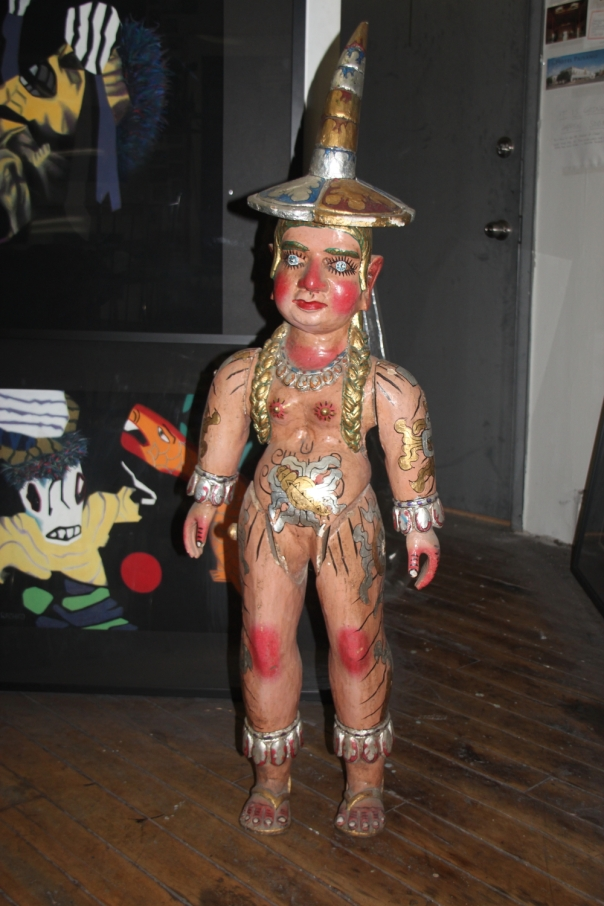 A Chinese-influenced figure Barbara brought home from Mexico City in 1999.