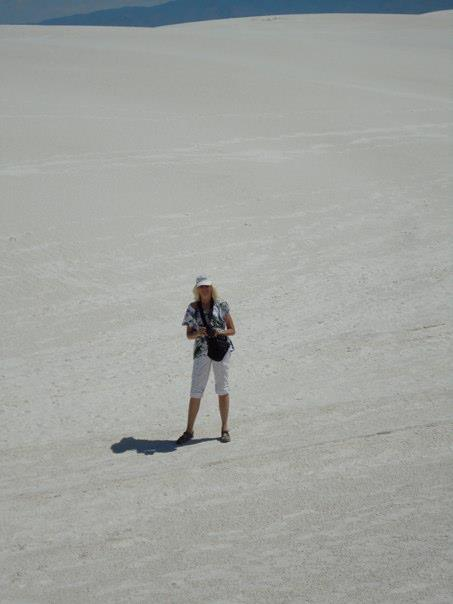 At White Sands, NM; photo by Donna Tang