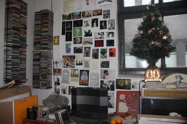 A corner of the studio