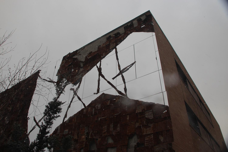 Broken Bridge II, by El Anatsui, on the High Line
