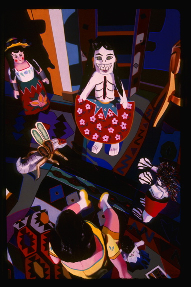 """She Embraced It and Grew Stronger,"" 2003, 58"" x 38"", first large pastel-on-sandpaper painting completed after Bryan was killed"
