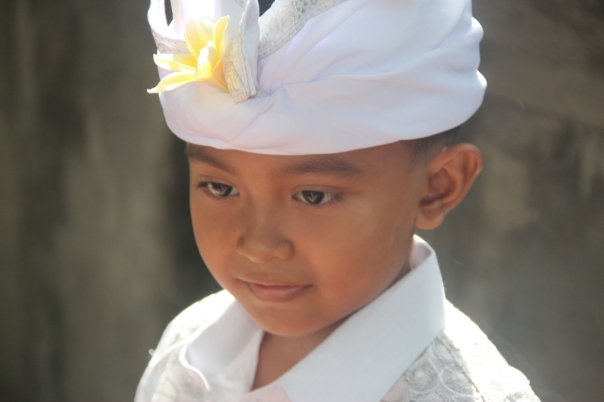 Balinese boy in Hindu dress