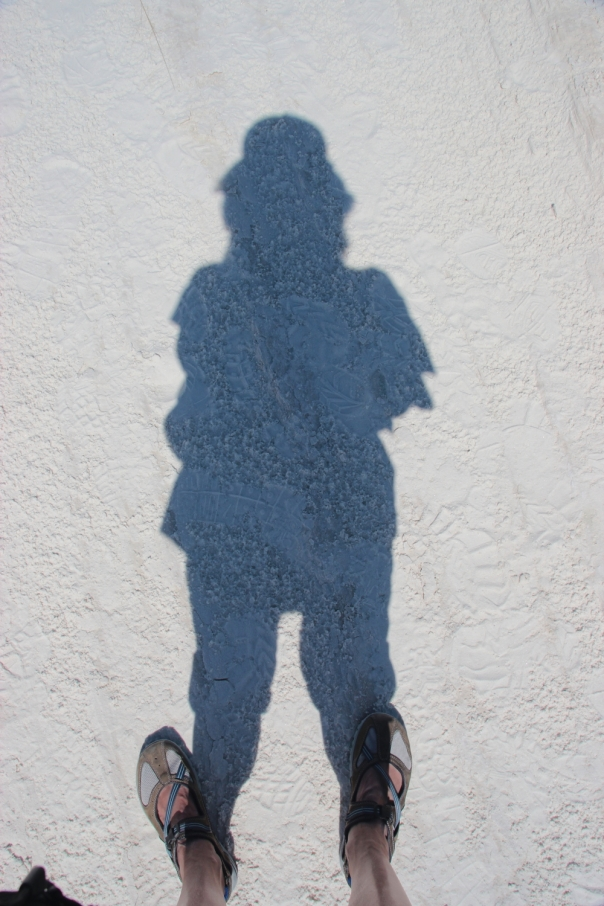 Self portrait, White Sands, NM