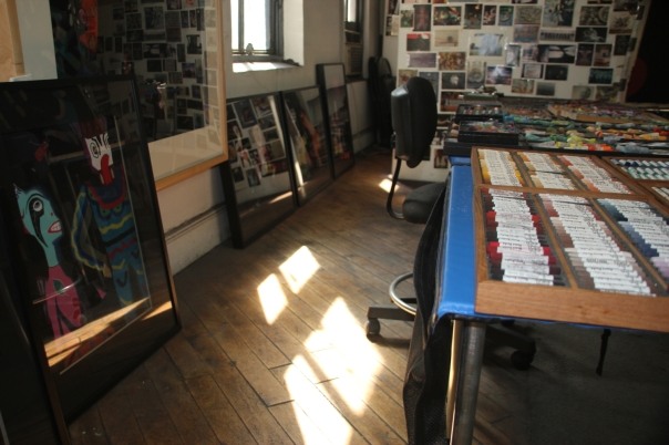 Morning sun at the studio