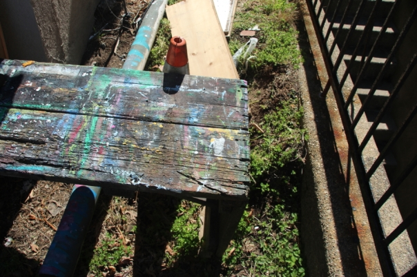Artist's backyard