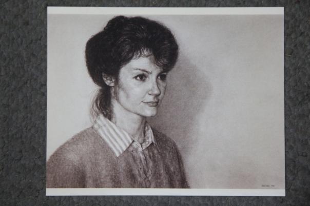 """Krystyn,"" charcoal, 22"" x 30"", 1989"