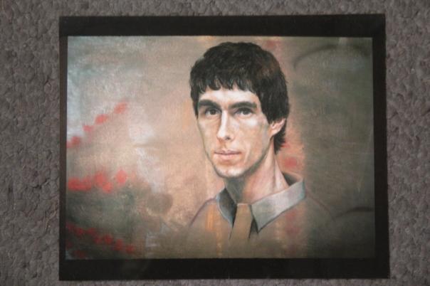 """Bryan,"" soft pastel on sandpaper, 22"" x 28"", 1988"