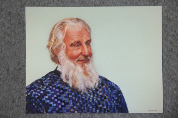 """John,"" soft pastel on sandpaper, 22"" x 28"", 1989"