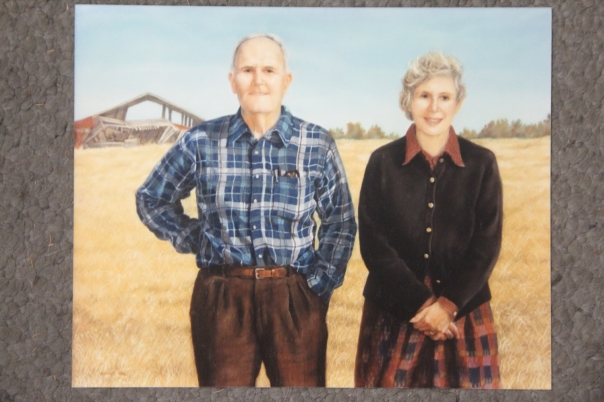 """The Post Oak Jacks,"" soft pastel on sandpaper, 31"" x 39"", 1990"