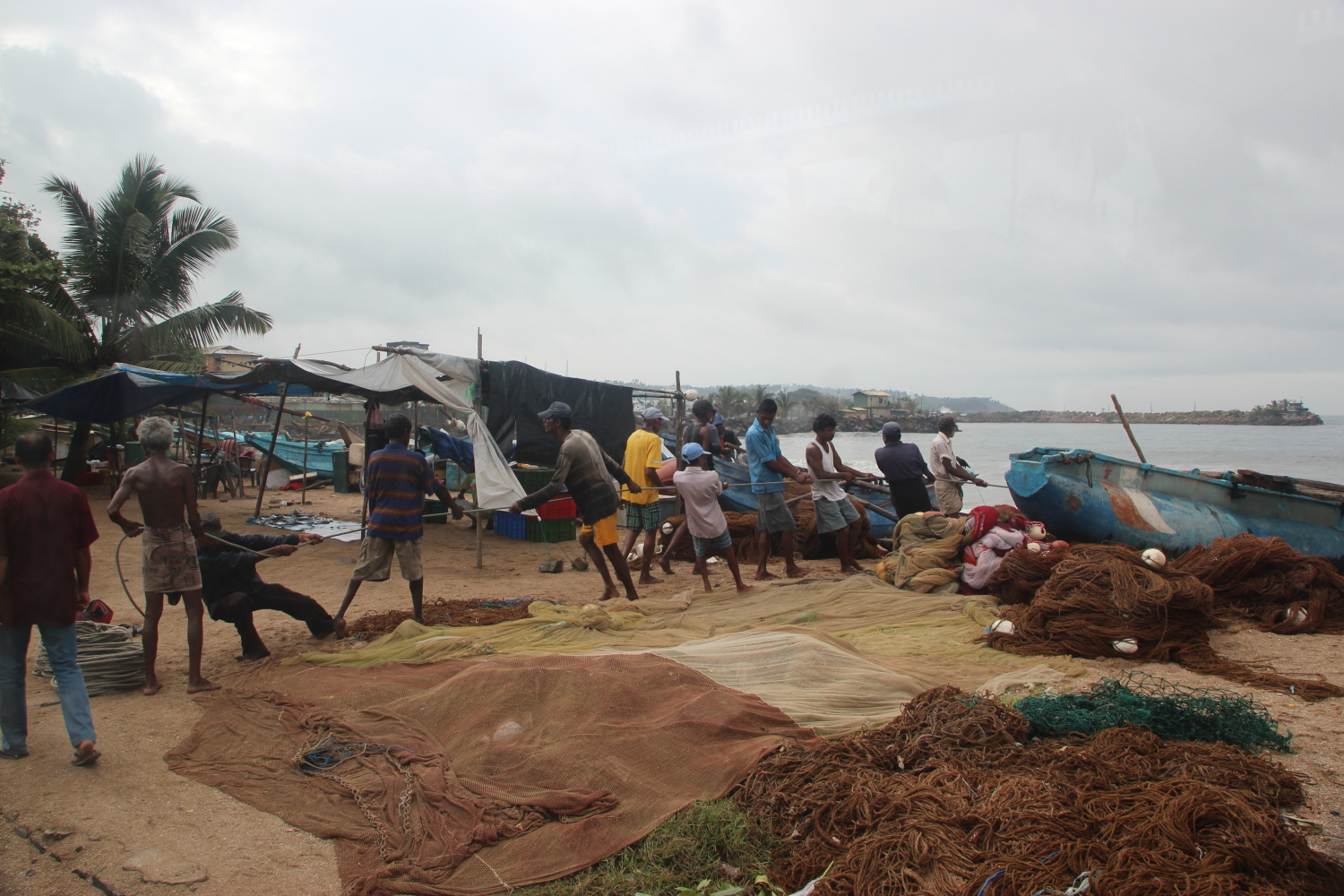 Hauling in the nets, Galle
