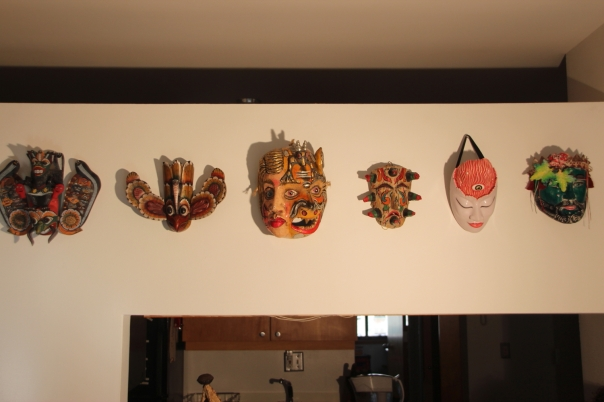 Masks from Sri Lanka, Mexico, and Bali