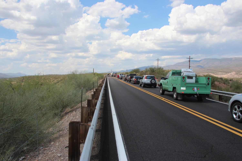 Road delay, Arizona