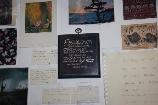 Studio wall