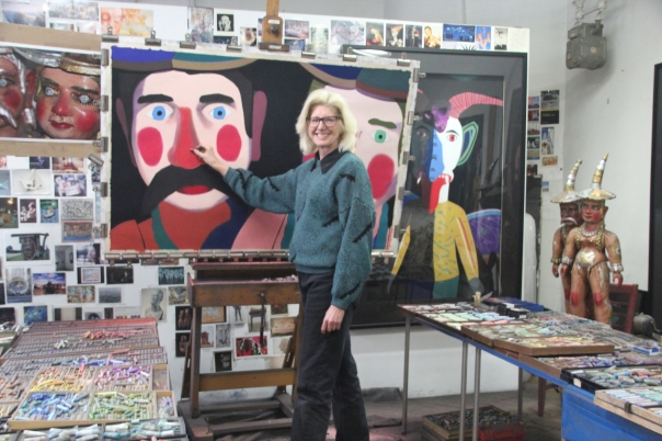 Barbara in her studio