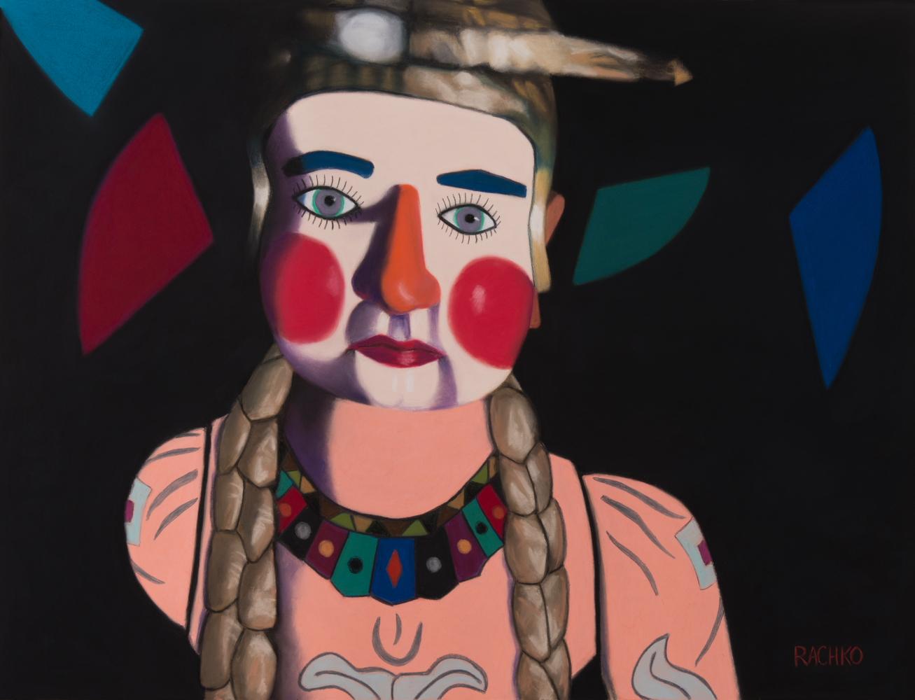 """""""The Storyteller,"""" soft pastel on sandpaper, 20"""" x 26"""""""