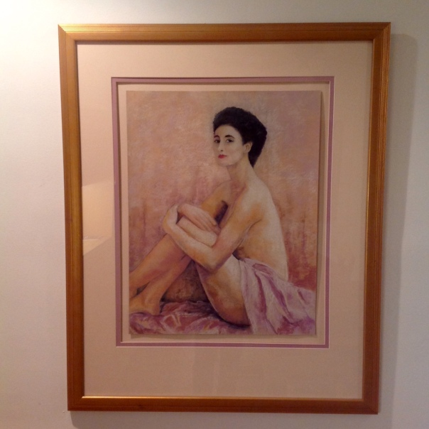 First framed pastel painting, 1988