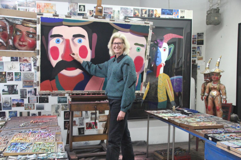Barbara at work