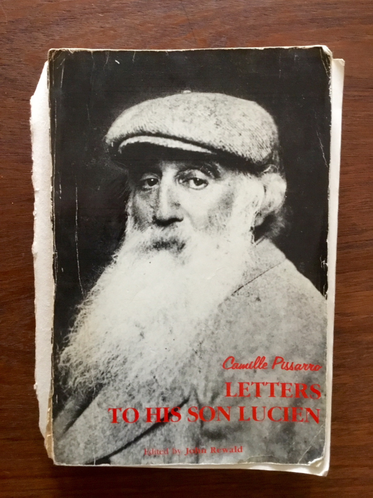 "Barbara's well-worn copy of ""Camille Pissarro:  Letters to His Son Lucien"""