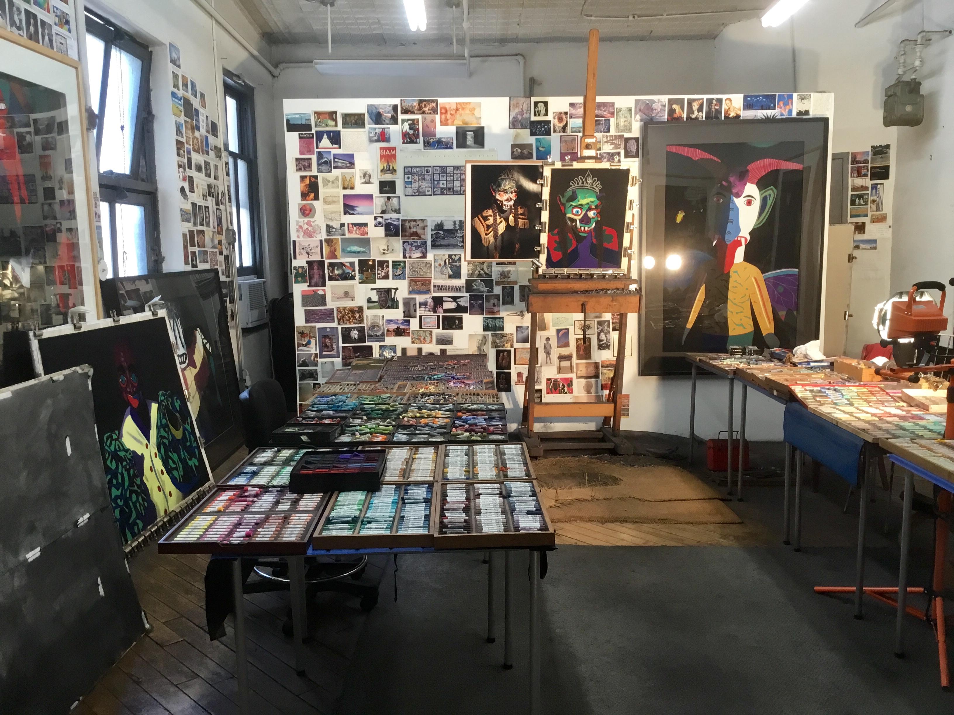 Studio with works in progress