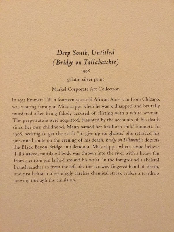 "From ""Sally Mann:  A Thousand Crossings"" at the National Gallery of Art"