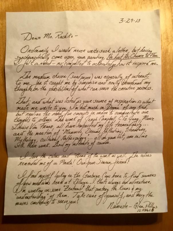 Letter from a fan