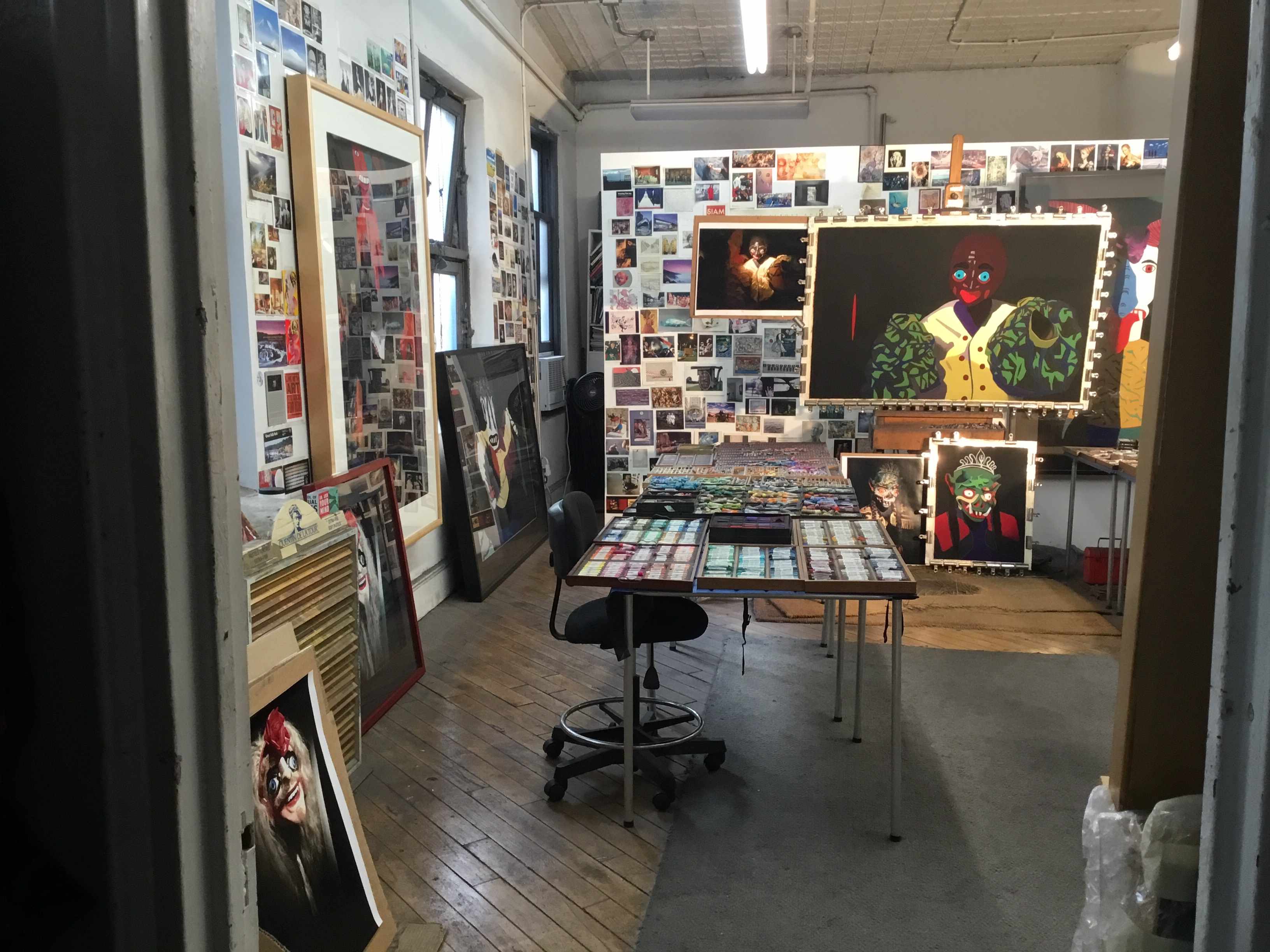 Entering Barbara's studio