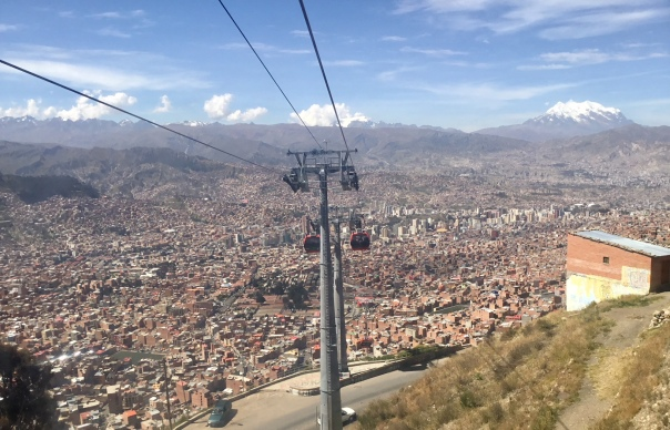 On the 'Mi Teleferico' line, La Paz, Bolivia