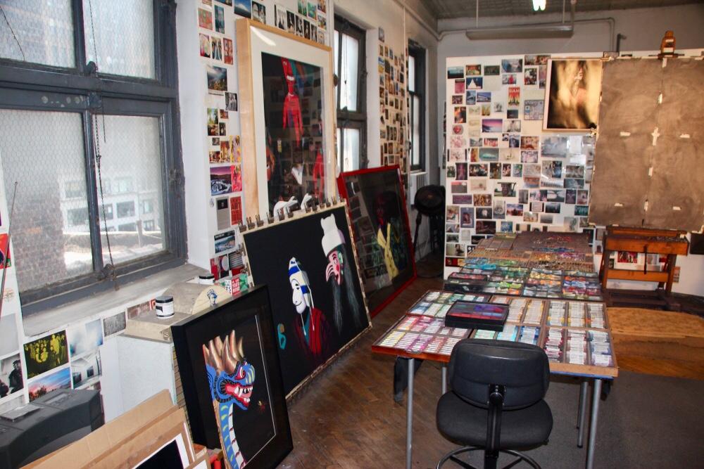 Studio with work in progress