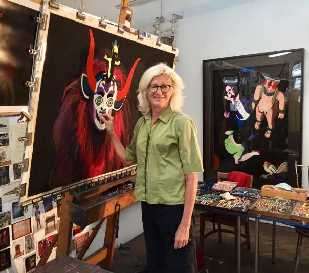 In the studio, Photo: Maria Cox