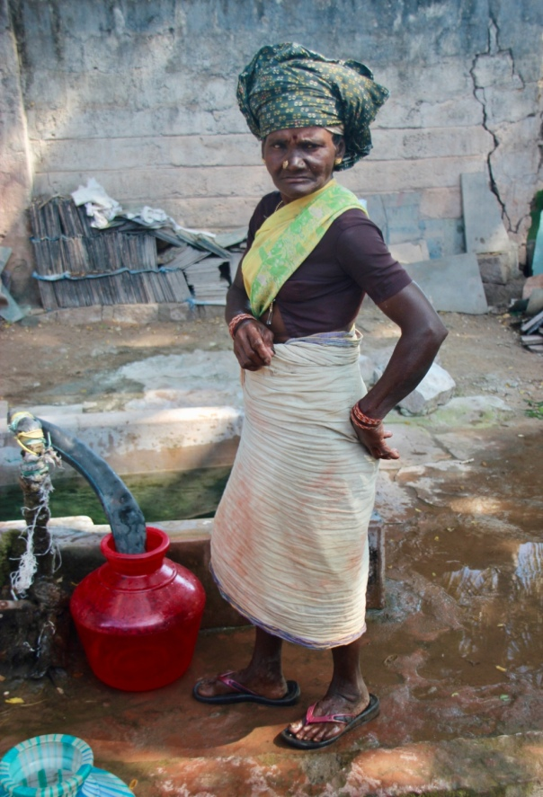 Tile worker in South India