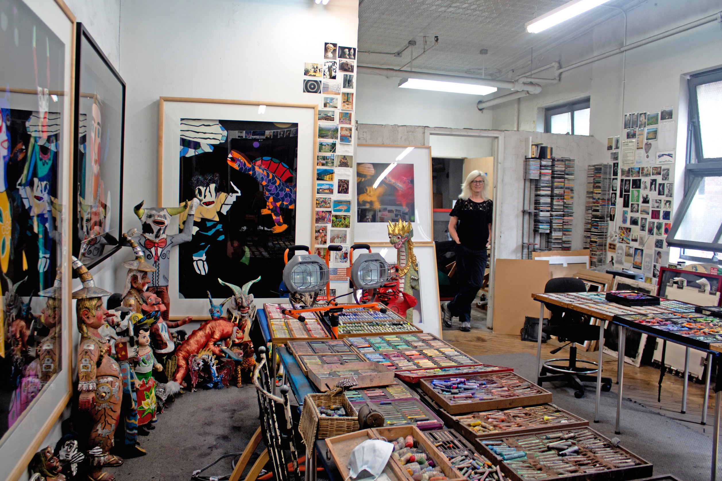 Barbara in her studio, Photo: Izzy Nova