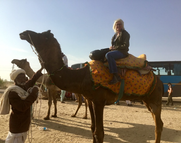 With Carlos the camel in India's Thar Desert