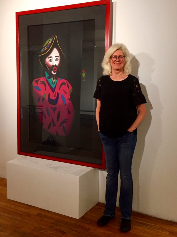 "With ""Prophecy,"" 70"" x 50,"" at Westbeth Gallery"