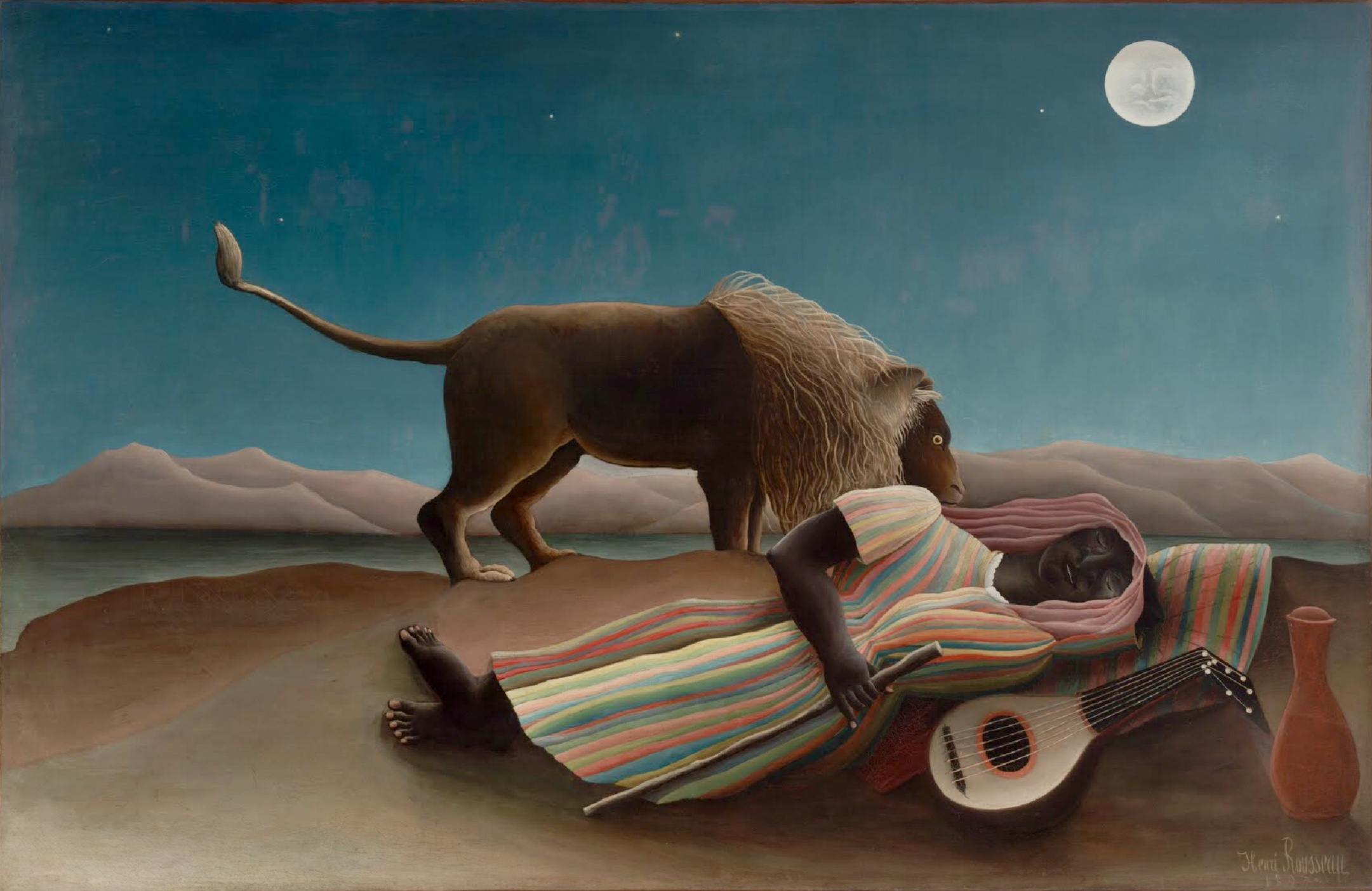 """The Sleeping Gypsy,"" Henri Rousseau, oil on canvas, 1897"