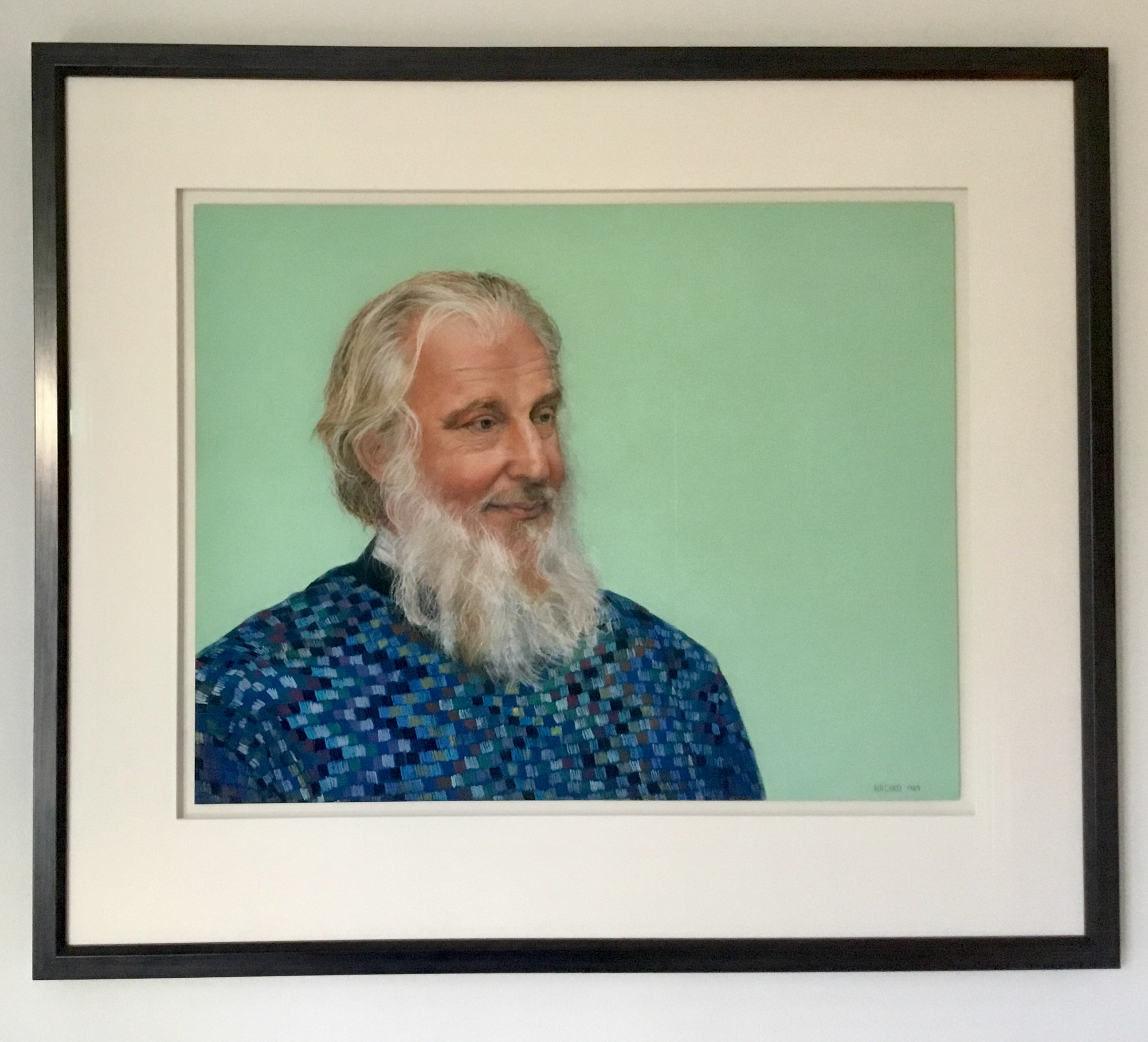 """John,"" Soft Pastel on Sandpaper, 22"" x 28"" (image), 1989."