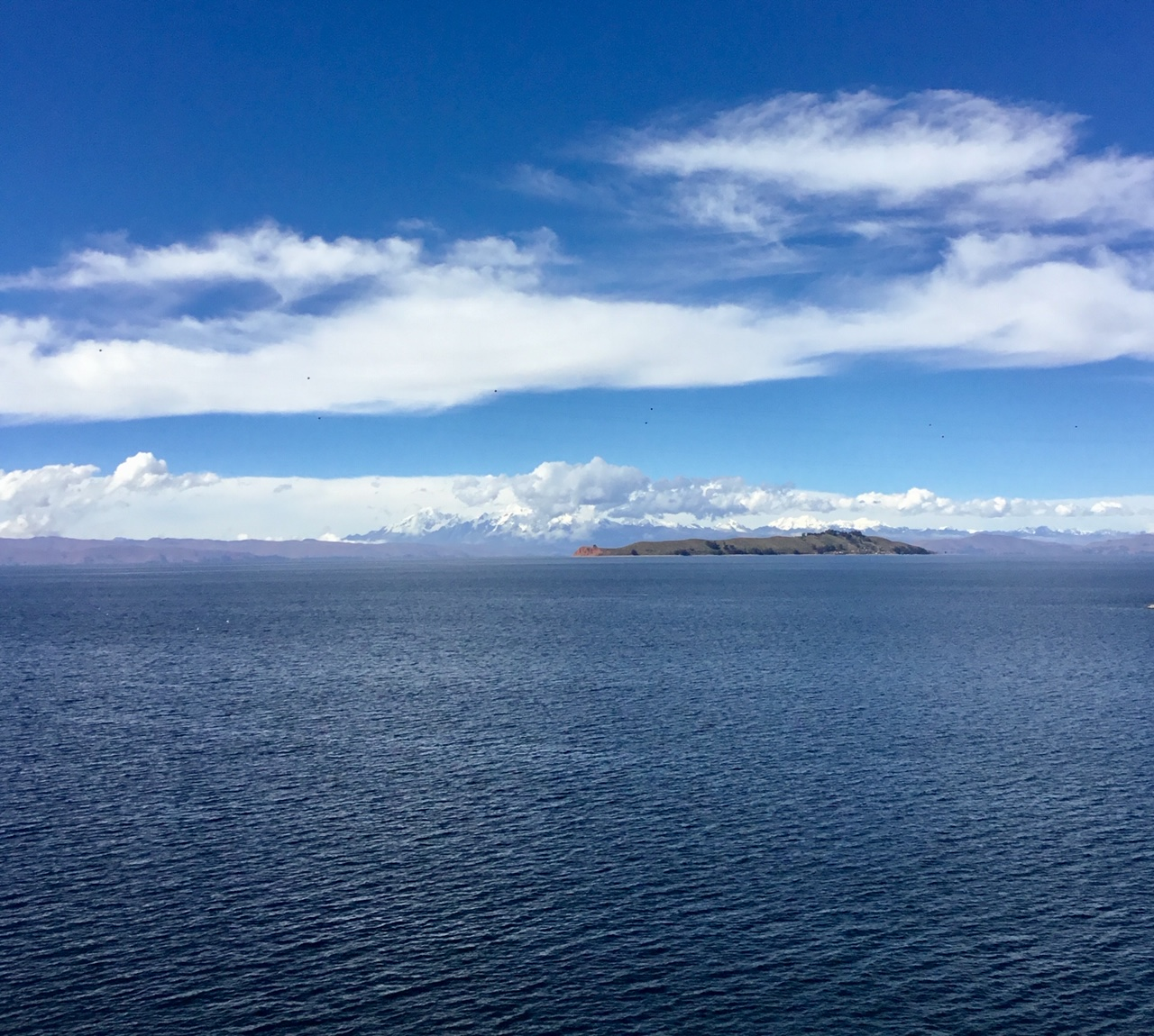 View from Isla del Sol in Bolivia